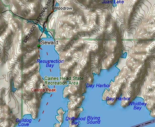 Resurrection Bay Alaska Map.Alaska Maps Charts Directions